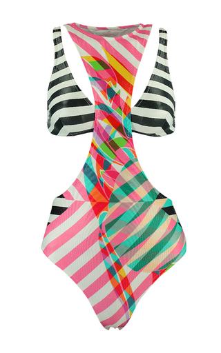 Medium salinas multi stripe double piece