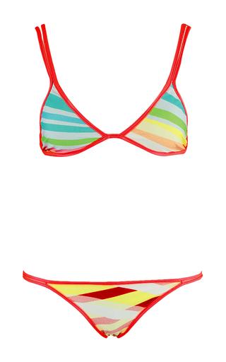Medium salinas multi rainbow striped bikini