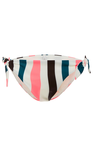 Medium solid striped stripe jane tie bikini bottom