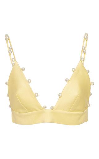 Medium leal daccarett yellow eva pearl bustier