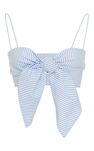 Medium leal daccarett stripe anika bralette top
