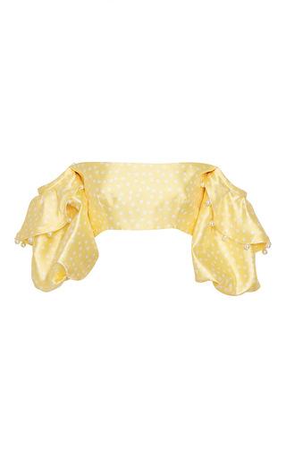 Medium leal daccarett yellow ita cropped top