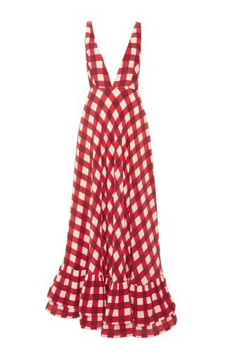 Medium leal daccarett plaid ilaria gown
