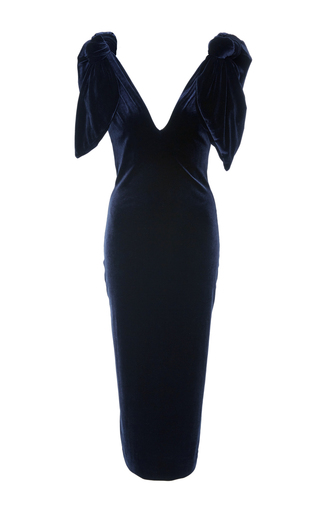 Medium leal daccarett navy inam midi dress