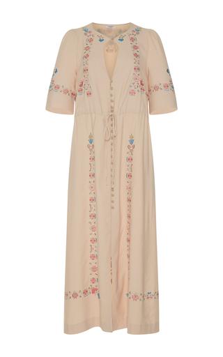 Medium vilshenko nude ruby button down dress