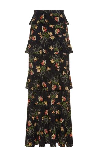 Medium vilshenko print maisie tiered maxi skirt