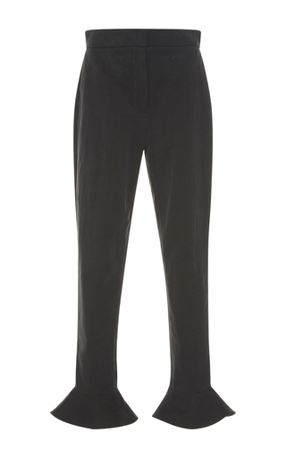Medium vilshenko dark grey lily flare cuff trousers