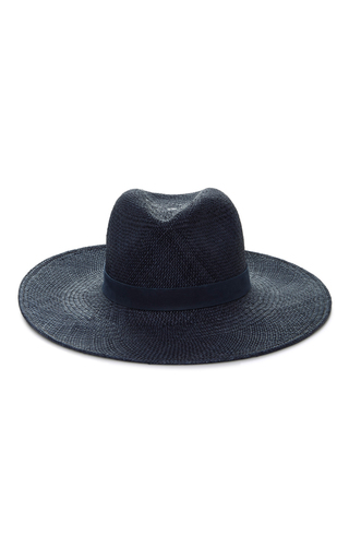 Medium janessa leone navy chloe panama hat