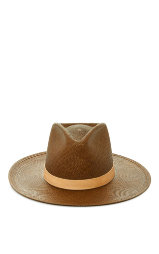 Medium janessa leone tan lani tall panama hat