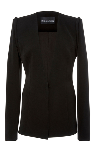 Medium brandon maxwell black tailored suiting jacket