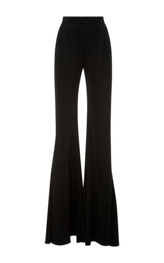 Medium brandon maxwell black floor length flared pants