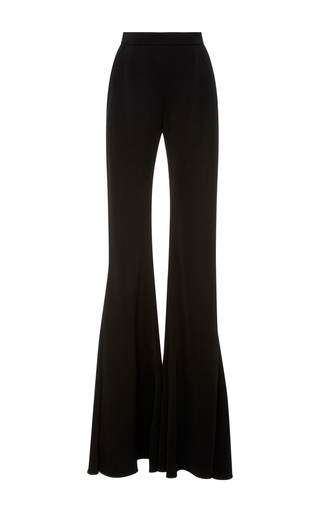 Medium brandon maxwell black floor length flared pants
