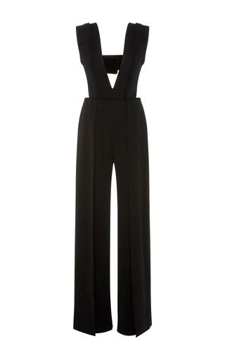 Medium brandon maxwell black wide leg jumpsuit