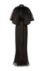 Flounce Shoulder Column Dress by BRANDON MAXWELL Now Available on Moda Operandi