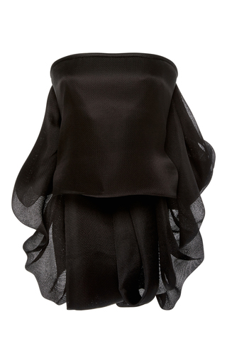 Medium brandon maxwell black strapless bustle top