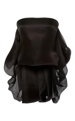 Medium brandon maxwell black strapless bustle top