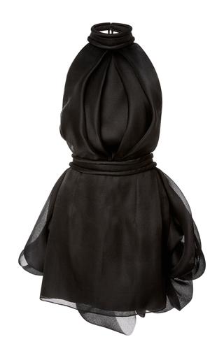 Medium brandon maxwell black halter mini dress