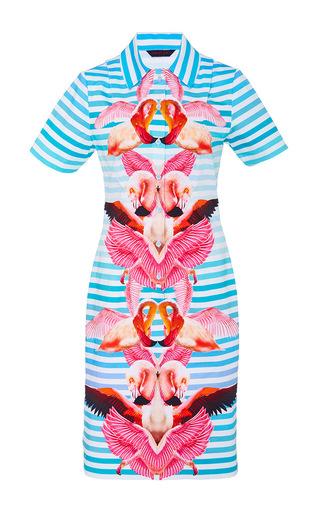 Medium manish arora print paradise printed shirt dress