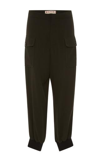 Medium marni green high waist cargo trousers