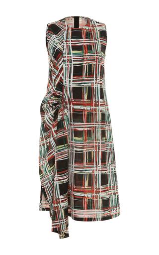 Medium marni multi scribble plaid dress