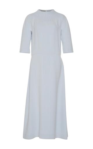 Medium emilia wickstead light blue thais three quarter sleeve dress