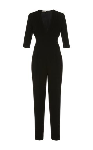 Medium emilia wickstead black bella pleated jumpsuit