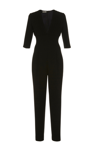 Medium emilia wickstead black bella pleated jumpsuit
