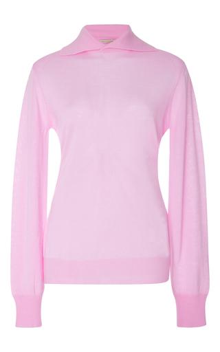Medium emilia wickstead pink gabrielle merino wool blend sweater