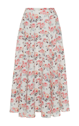 Medium emilia wickstead floral eleanor pleated midi skirt