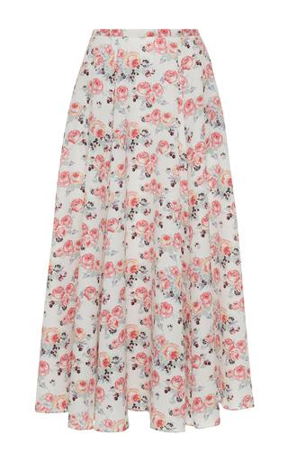 Medium emilia wickstead floral eleanor pleated midi skirt