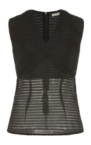 Medium emilia wickstead black zaida sleeveless top