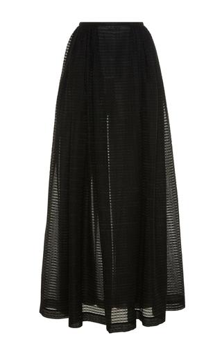 Medium emilia wickstead black rapunzel maxi skirt