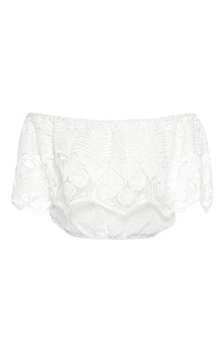 Medium miguelina white dakota cropped lace blouse
