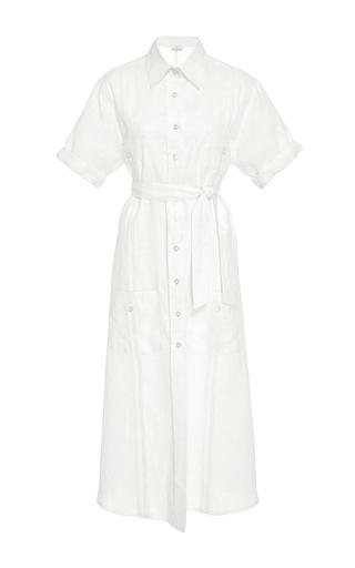 Medium miguelina white guayabera long shirt dress