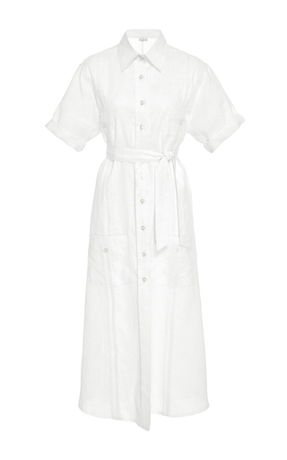 Medium miguelina white guayabera long shirt dress