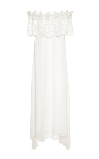 Medium miguelina white felicia lace maxi dress