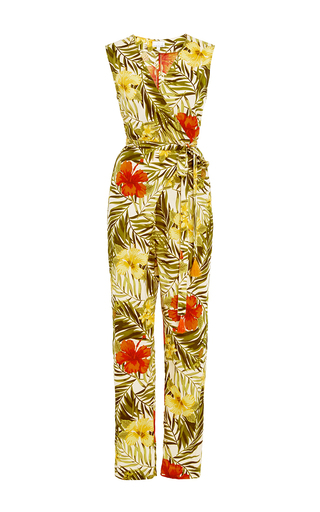 Medium miguelina print alexa wrap jumpsuit