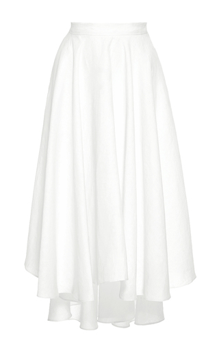 Medium miguelina white gale asymmetric high waist skirt