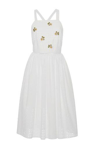 Medium blugirl white sleeveless embroidered dress
