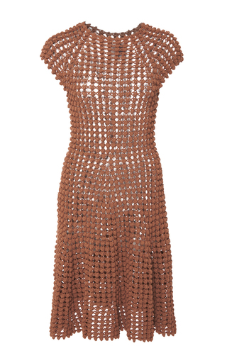 Medium helen rodel brown popcorn stitch mini dress