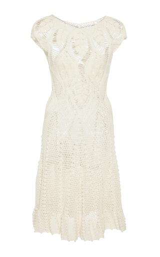 Medium helen rodel white leaf crochet mini dress
