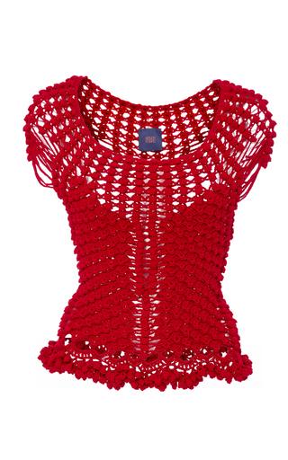 Medium helen rodel red mermaid knit top