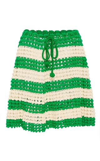 Medium helen rodel stripe samba striped knit skirt