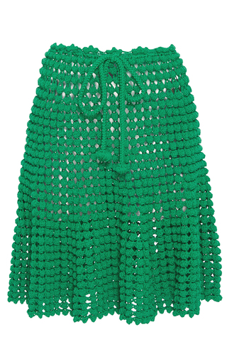 Medium helen rodel green popcorn stitch skirt