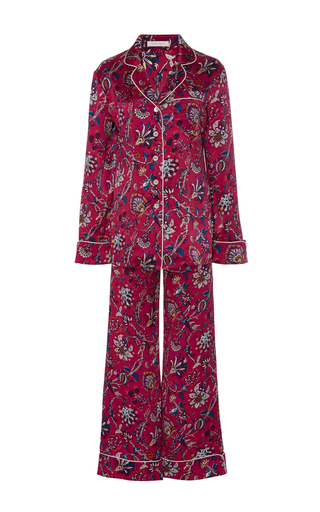 Medium olivia von halle floral lila yasmin paisley pajama set