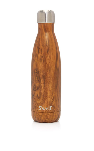 Medium s well brown teakwood reusable bottle 17oz