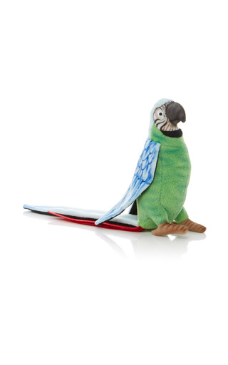 Medium hansa toys green parrot