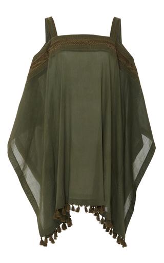 Medium a peace treaty green sissala off shoulder embroidered caftan
