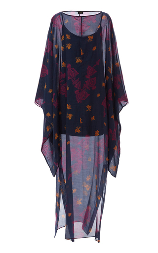 Medium jaline print bianca kimono sleeve dress