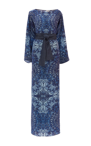 Medium jaline print rachel belted kimono dress